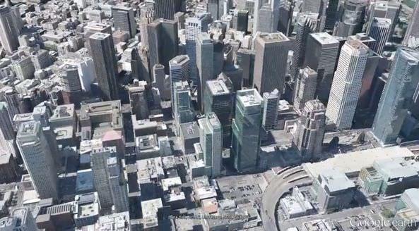 Google Earth (Google Maps) - карты в формате 3D