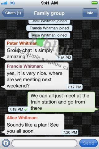 WhatsApp Messenger - бесплатные SMS и MMS для пользователей iPhone [Скачать / App Store]