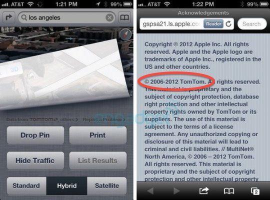 TomTom - новый провайдер географических карт на iOS 6