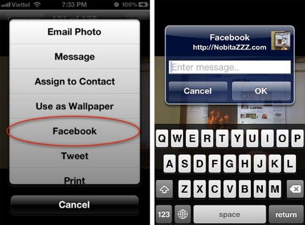 Интеграция iOS и Facebook уже сейчас с твиком FacebookThis [Cydia / Обзор / Скачать]
