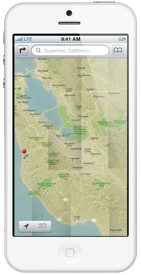 Как будет выглядеть новое приложение Карты (Maps) на 4-х дюймовом iPhone 5 [Концепт / Фото]