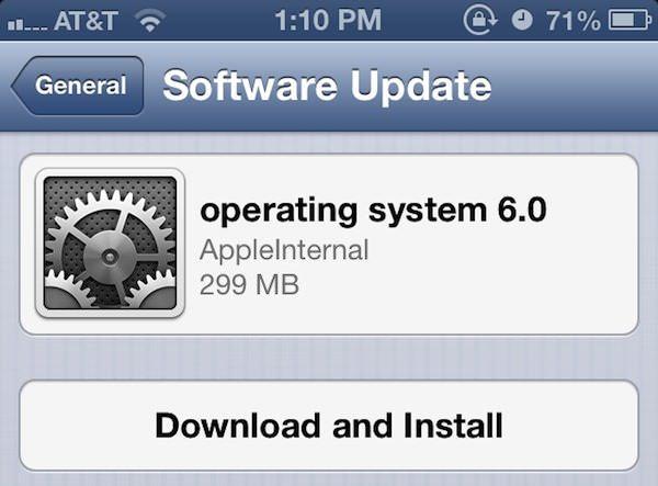 Скачать iOS 6 beta 2 для разработчиков