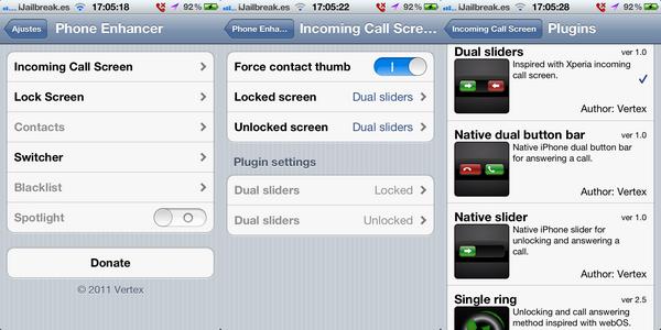 Твик PhoneEnhancer преобразит слайдер разблокировки и ответа на звонок