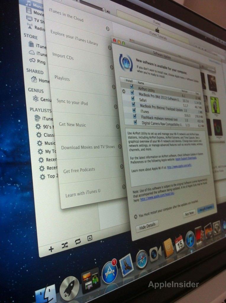 К новому MacBook Pro с экраном Retina можно подключить 3 дополнительных монитора