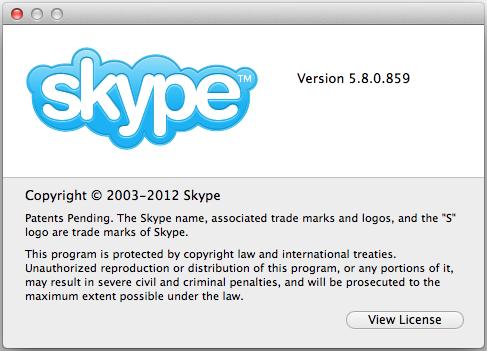 Скачать Skype для Mac OS X c поддержкой OS X Mountain Lion