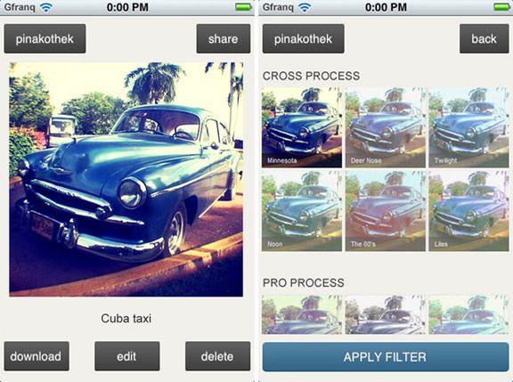 Скачать Gfranq - мгновенная обработка фото на iPhone. Бесплатное приложение