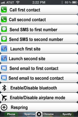 HomeCourts, твик добавляющий быстрое меню в стиле банеров iOS