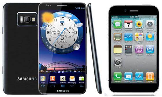 Еще невышедший iPhone 5 стал популярнее Samsung Galaxy S3