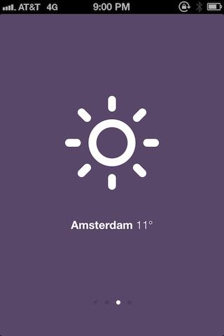 SUN: красивый прогноз погоды для iPhone