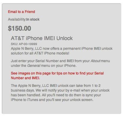 Unlock (анлок) iPhone 4 с модемом 04.11.08 от Apple N Berry - производителя Gevey Turbo SIM