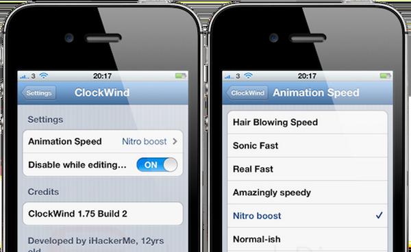 """Джейлбрейк-твик ClockWind сделает iPhone 3GS и iPhone 4 """"быстрее"""""""