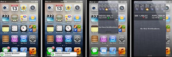 Твик Bulletin Pro изменит размер банеров уведомлений и Центра уведомлений в iOS