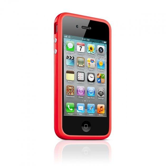 Apple представила красный бампер для iPhone 4 и iPhone 4S