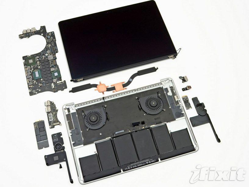 iFixit: замена батареи в MacBook Pro с дисплеем Retina стоит 0