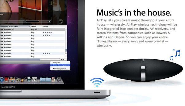 По слухам, 12 сентября Apple представит обновленную технологию AirPlay (не требующую Wi-Fi - соединения)