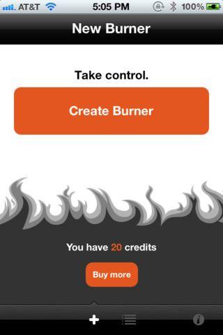 Burner позволяет получить временные номера телефонов для iPhone [App Store]