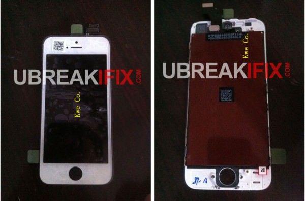 Фото передней панели белого iPhone 5