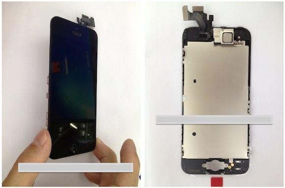 В сети появилось фото собранной передней части iPhone 5