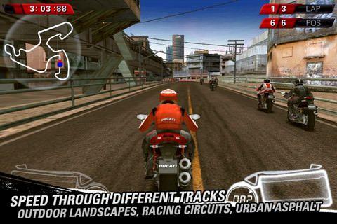 Ducati Challenge: гонки на мотоциклах для iPhone, iPod Touch и IPad