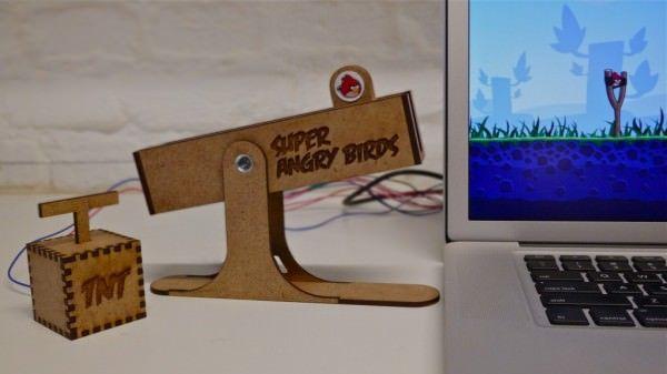 Игровой контроллер для Angry Birds. Играем по-настоящему [Видео]