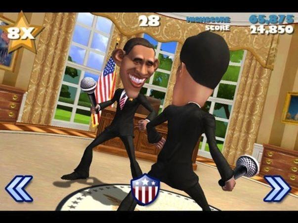 VOTE!!! - игра в которой сражаются президенты США, подобно Infinity Blade