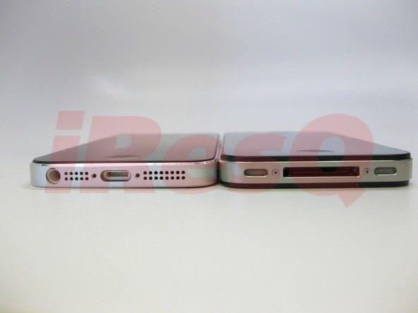 Фотосравнение толщины iPhone 5 и iPhone 4S