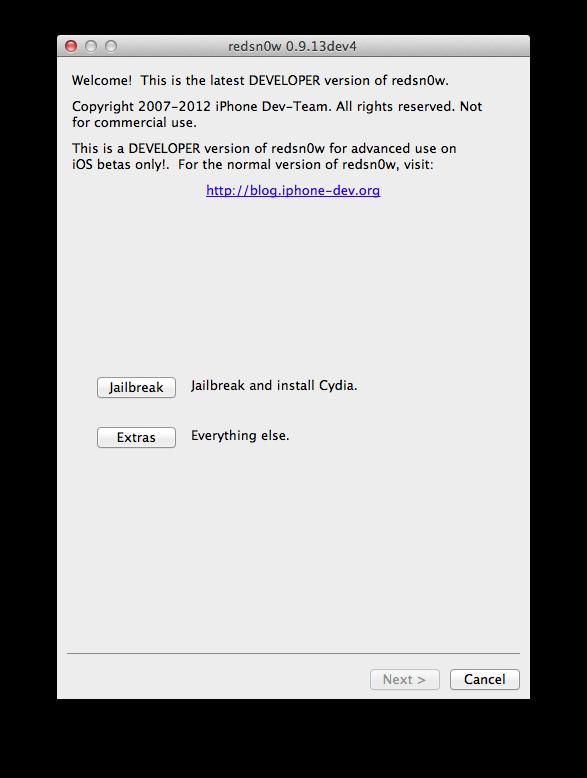 Как сделать джейлбрейк iOS 6 GM с помощью RedSnow 0.9.13 dev 4
