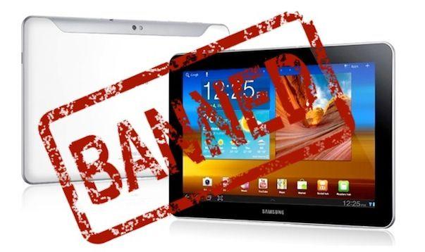Судебный запрет на продажу Samsung Galaxy Tab 10.1 в США пока остается в силе