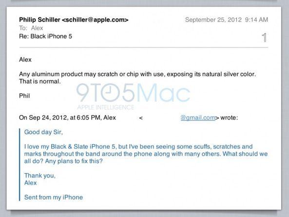 Руководитель Apple о недостатках iPhone 5: царапины – это нормально