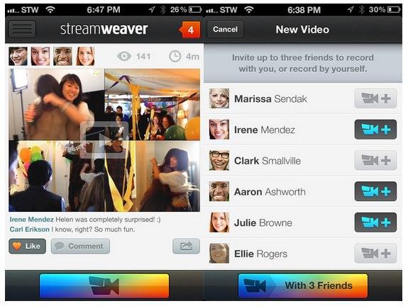 Скачать Streamweaver для iPhone - видеосьемка со многих ракурсов в одном кадре