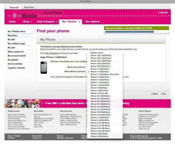Оператор T-Mobile UK сообщает о модели iPhone X вместо iPhone 5