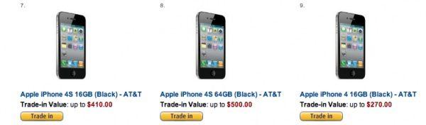 В предверии релиза iPhone 5, Amazon дорого скупает б/у iPhone 4S или iPhone 4
