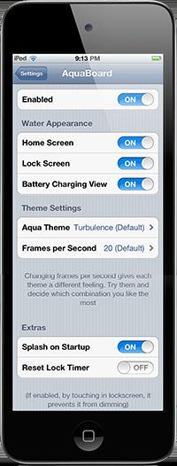 Джейлбрейк-твик AquaBoard добавит анимацию воды на главный экран iPhone или IPod Touch