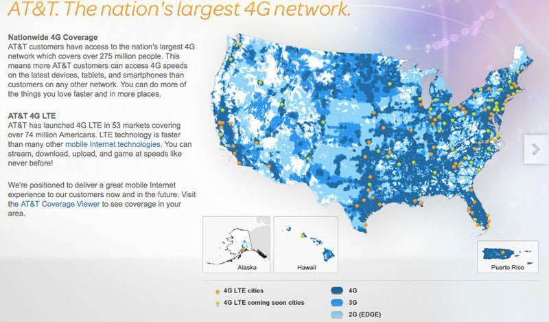 AT&T запускает 4G LTE вышки в 10-ти городах США параллельно с выходом iPhone 5