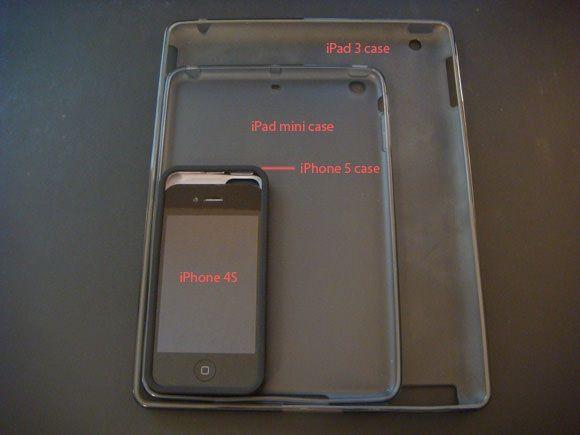 Фотосравнение чехлов iPhone 5, iPad mini, iPhone 4S и iPad 3