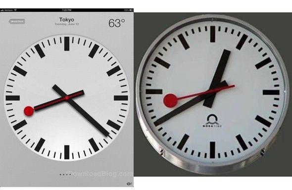 Ж/д служба Швейцарии обвиняет Apple в незаконном использовании дизайна часов в iOS 6