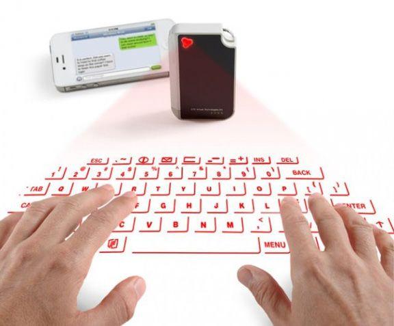 Лазерная клавиатура-брелок Virtual Keyboard для iPhone и IPad