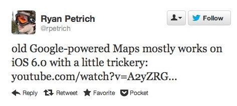 Хакер успешно портировал приложение Google Maps из iOS 5.1 в iOS 6