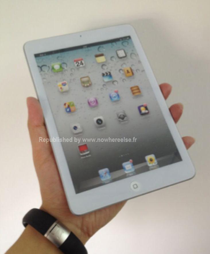 Макет iPad mini показывает, как будет выглядеть устройство в руке