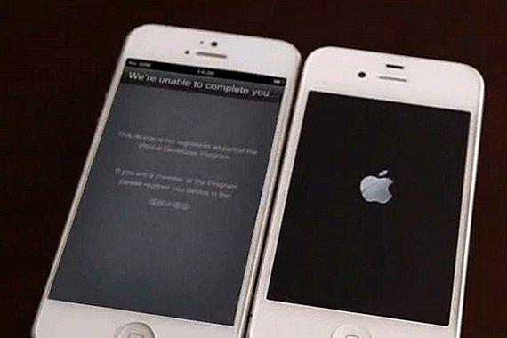 Первое видео рабочего iPhone 5