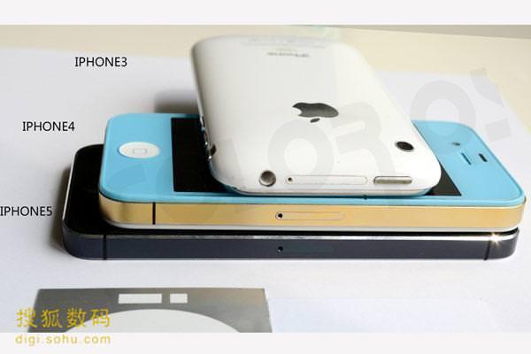 Фотографии iPhone 5 бок о бок с iPhone 4 и iPhone 3GS