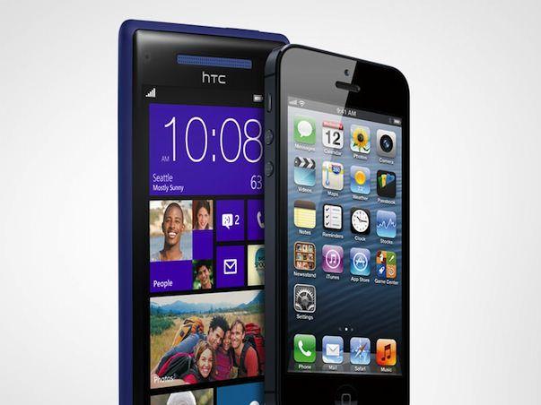 Сравнение Apple iPhone 5 и Windows Phone 8X HTC