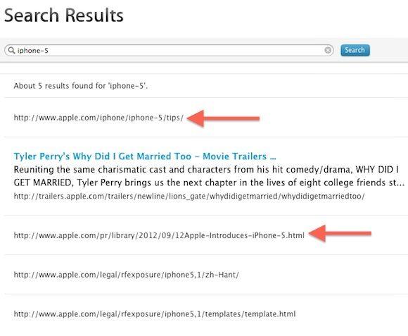 """Название """"iPhone 5"""" преждевременно появилось на сайте Apple"""
