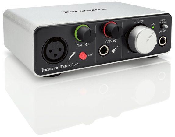 Focusrite выпустила iTrack solo - двухканальный аудио интеофейс для iOS устройств