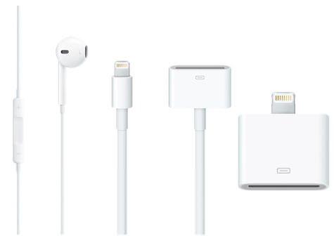 Известны цены на 30 контактный адаптер Lightning для iPhone 5 и наушники Earpods