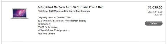 Теперь купить восстановленный MacBook Air можно на 440 долларов дешевле