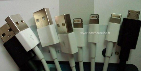 Фотографии USB-кабеля для iPhone 5, в сравнении с микро-USB