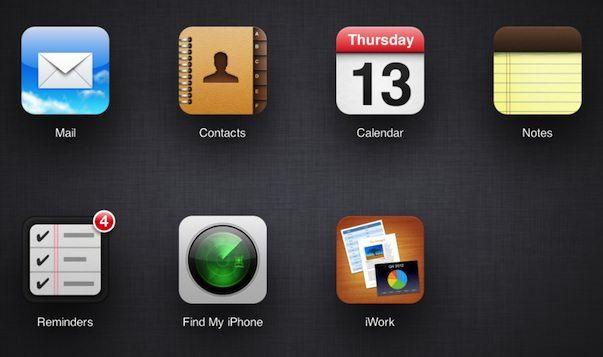 Сайт icloud.com пополнился новыми приложениями - Заметки и Напоминания