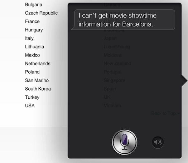 А какие функции iOS 6 поддерживаются в Вашей стране?
