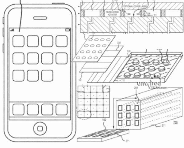 Новые патенты Apple: гибкий дисплей, тактильная клавиатура и встроенные в экран динамики